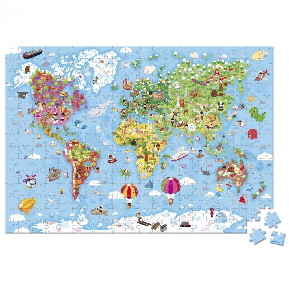 Giant Puzzle Mapa Sveta 300 Kom Gradska Beba