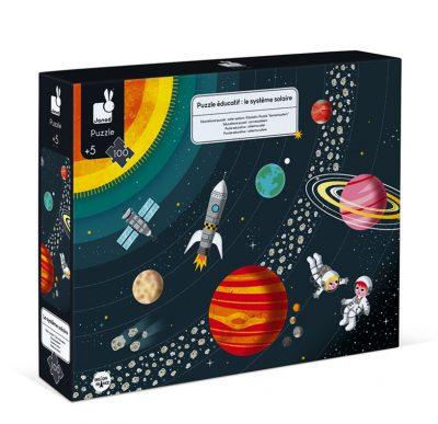 Janod edukativna kartonska puzzla Sunčev sistem. Uz pomoć ove edukativne kartonske slagalice vaše dete će otkriti šta se sve krije u Sunčevom sistemu.