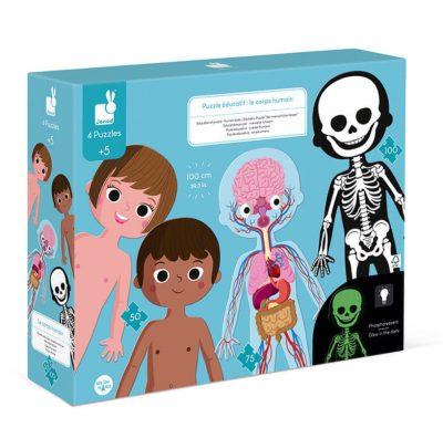 U slaganju ove Janod edukativne kartonske puzzle osim mališana uživaće i mame i tate, a ujedno će svi zajedno nešto naučiti o anatomiji ljudskog tela.