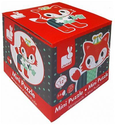 Janod mini kartonske puzzle upoznaće decu sa svetom šumskih životinja. Mini kartonska slagalica za motivom sastoji od 12 elemenata.