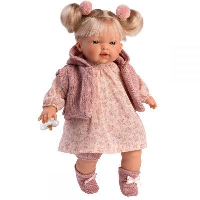Llorens lutka koja plače Ariana.Llorens lutke imaju dudu, plaču i govore mama i tata. Ruke, noge i glava od prijatnog vinila, stomak ispunjen mekom oblogom.
