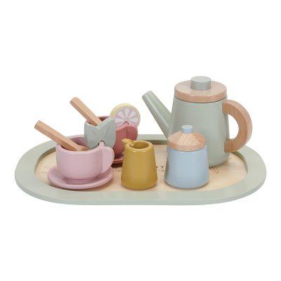 Da li ste za šolju čaja? Uz ovaj simpatični Little Dutch drveni set za čaj, deca će pozvati drugare da svi zajedno uživaju uz čaj, baš kao i odrasli.