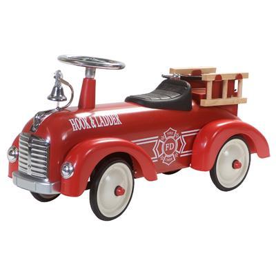 Ovaj Little Dutch crveni metalni retro vatrogasni automobil sa uklonjivim merdevinama pomoći će vašem mališanu da napravi prve korake.