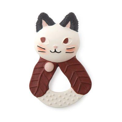 """Moulin roty glodalica za bebe, u obliku preslatke mace iz kolekcije """"Après la pluie"""" idealna je za ublažavanje bolnih desni kod bebe!"""